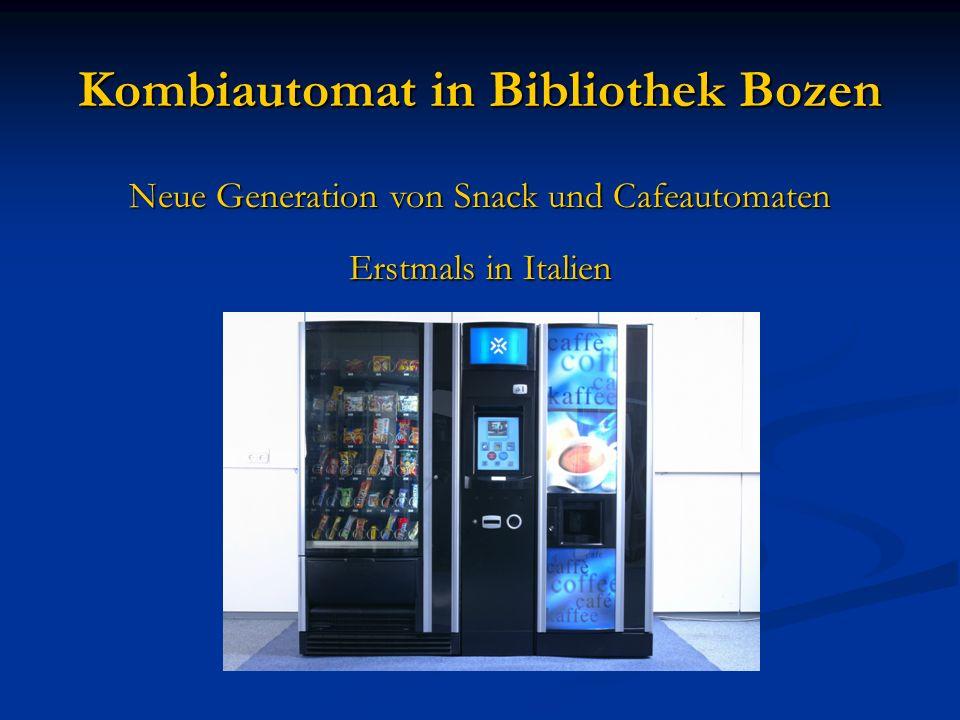 Kombiautomat in Bibliothek Bozen