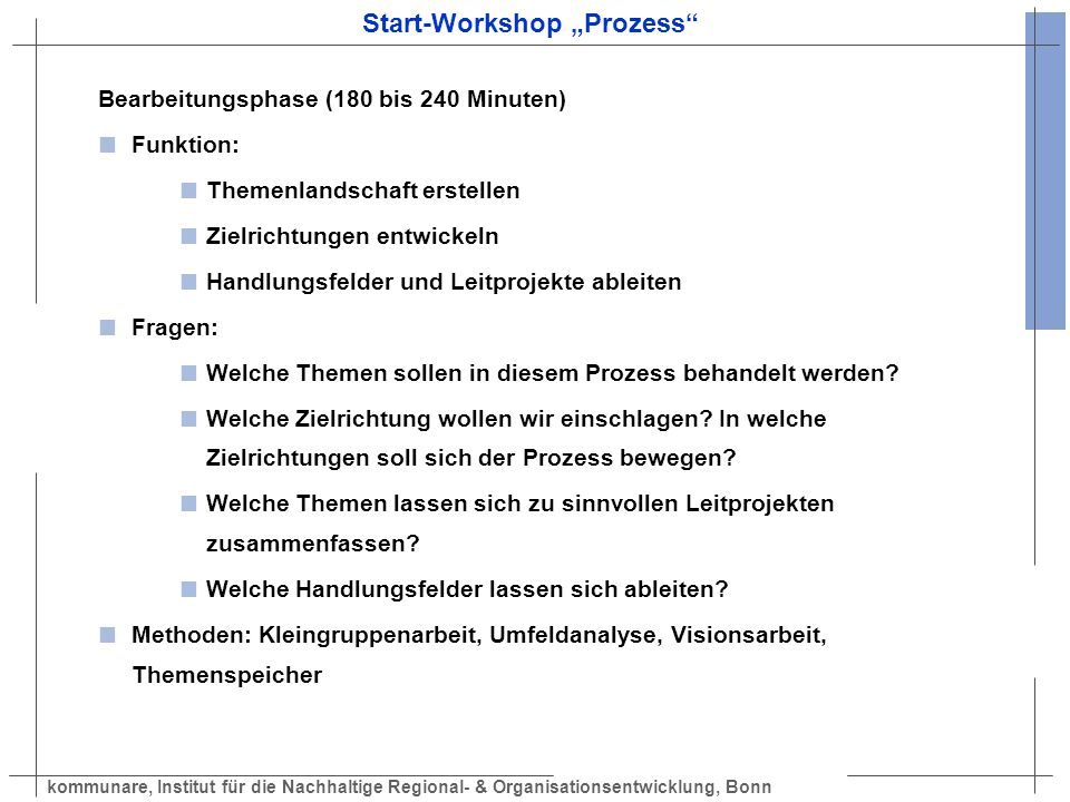 "Start-Workshop ""Prozess"