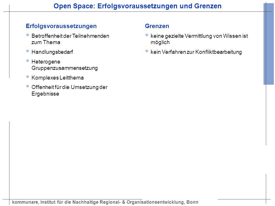 Open Space: Erfolgsvoraussetzungen und Grenzen