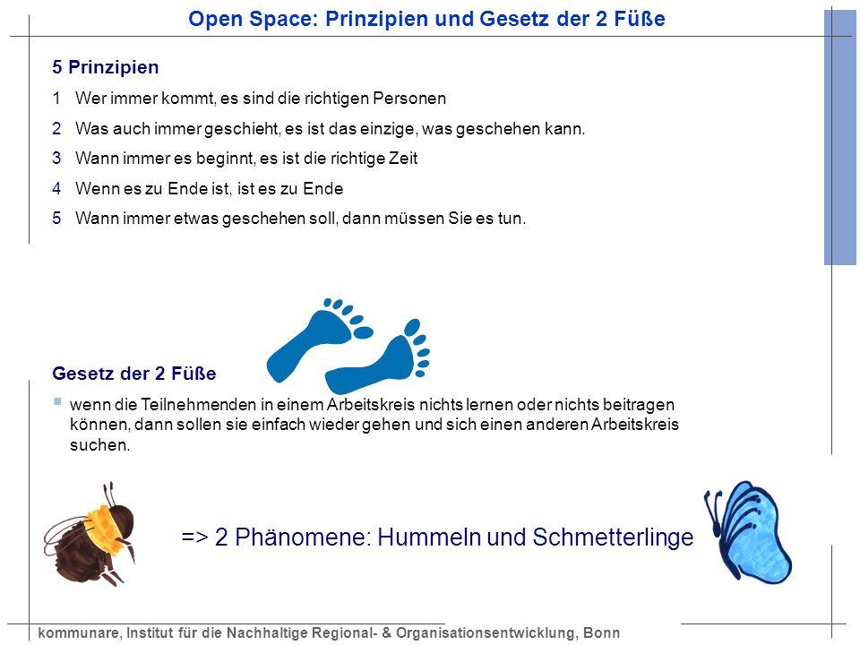 Open Space: Prinzipien und Gesetz der 2 Füße