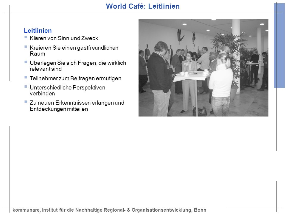 World Café: Leitlinien