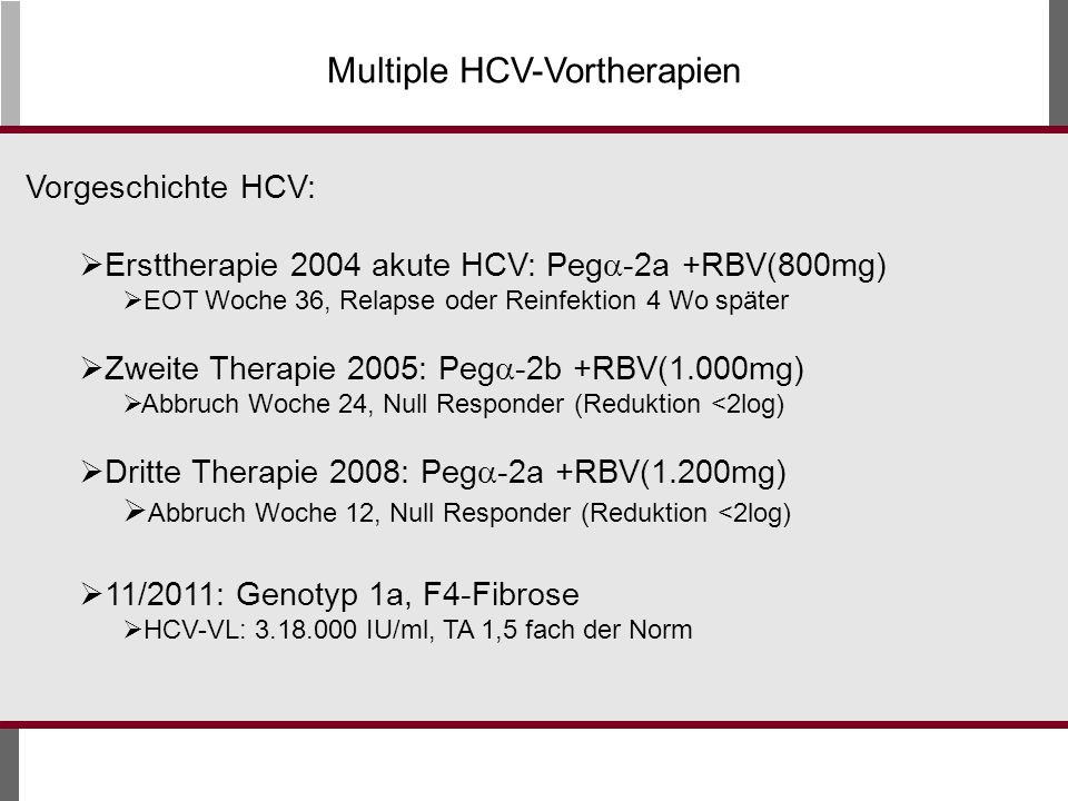 Multiple HCV-Vortherapien