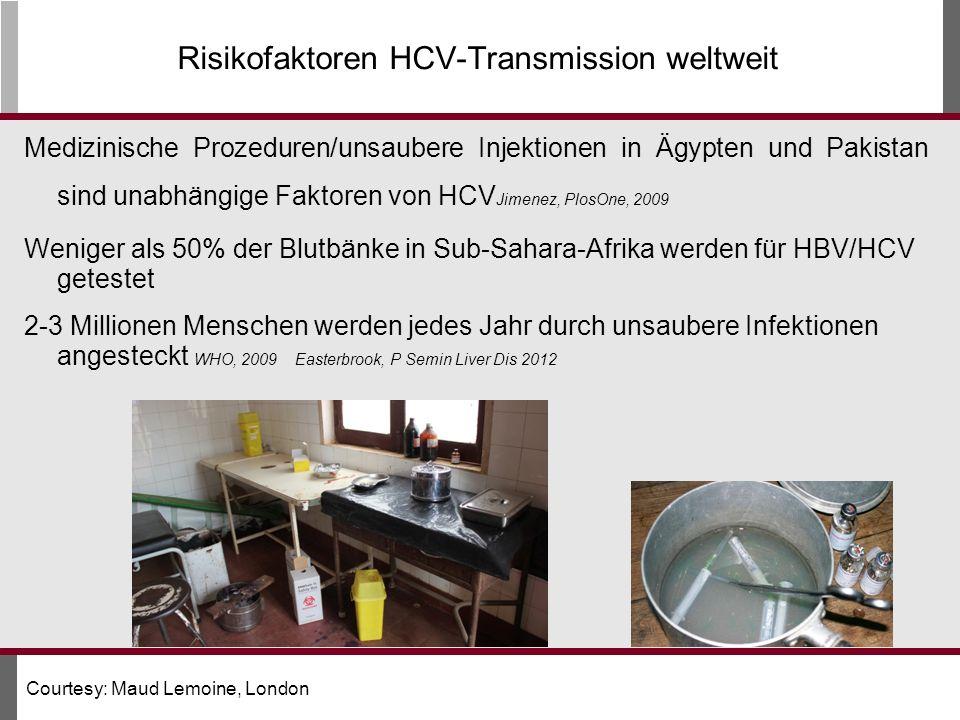 Risikofaktoren HCV-Transmission weltweit