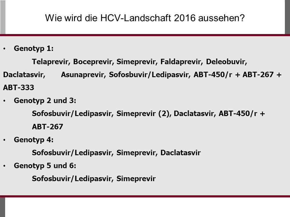 Wie wird die HCV-Landschaft 2016 aussehen
