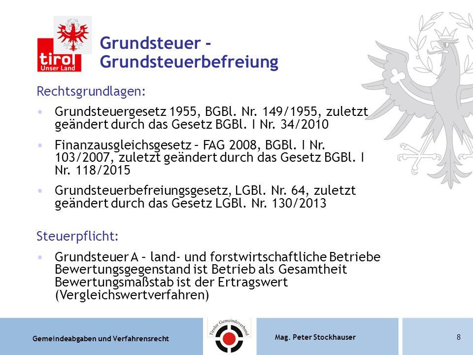 Grundsteuer - Grundsteuerbefreiung