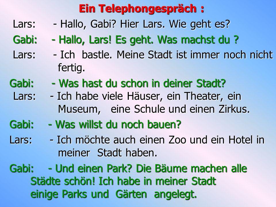 Ein Telephongespräch :