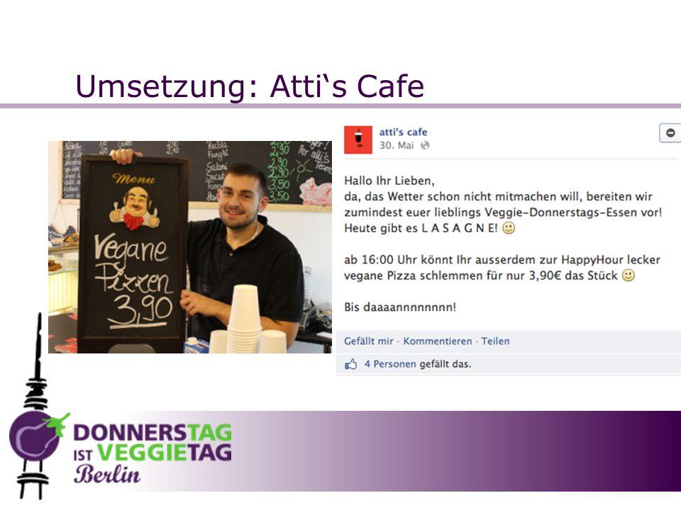 Umsetzung: Atti's Cafe