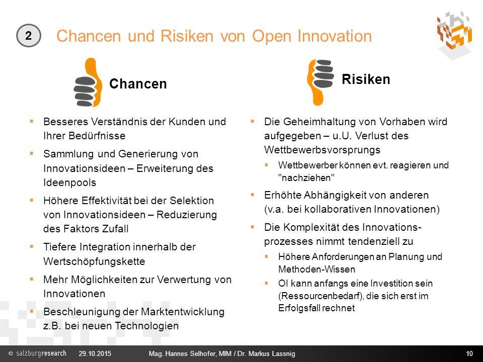 Chancen und Risiken von Open Innovation