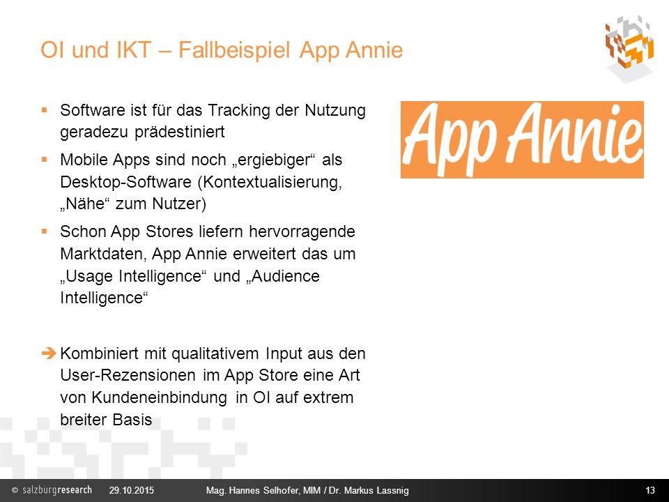 OI und IKT – Fallbeispiel App Annie