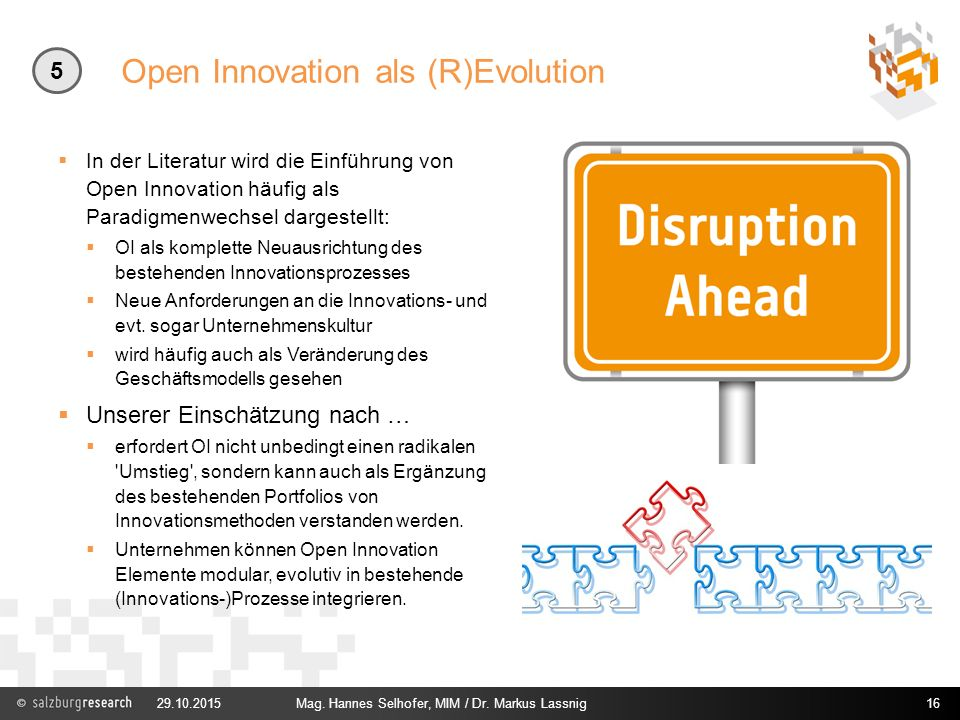 Open Innovation als (R)Evolution