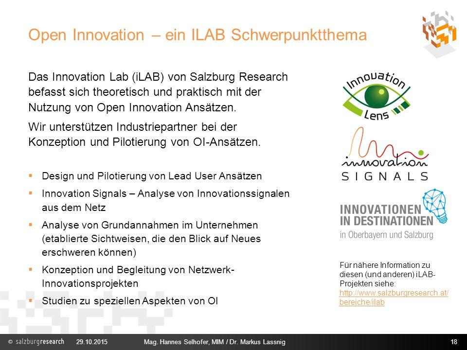 Open Innovation – ein ILAB Schwerpunktthema