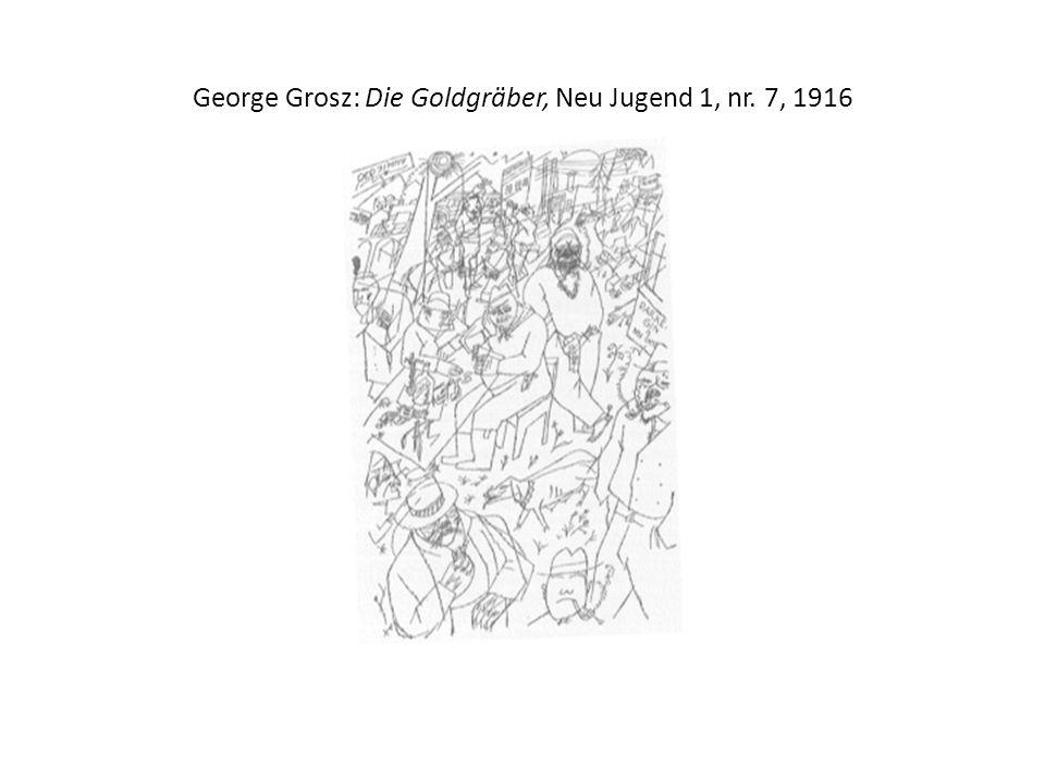 George Grosz: Die Goldgräber, Neu Jugend 1, nr. 7, 1916