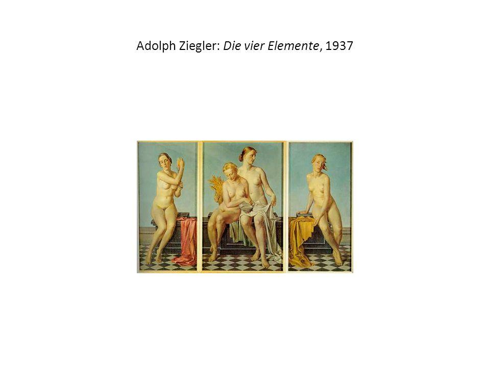 Adolph Ziegler: Die vier Elemente, 1937