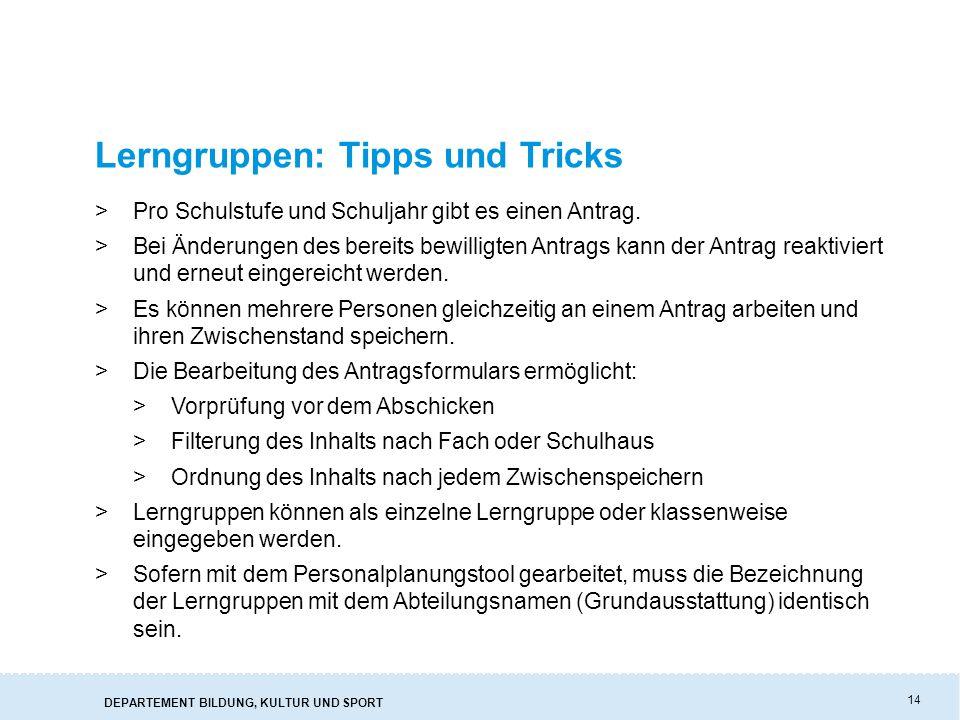 Lerngruppen: Tipps und Tricks