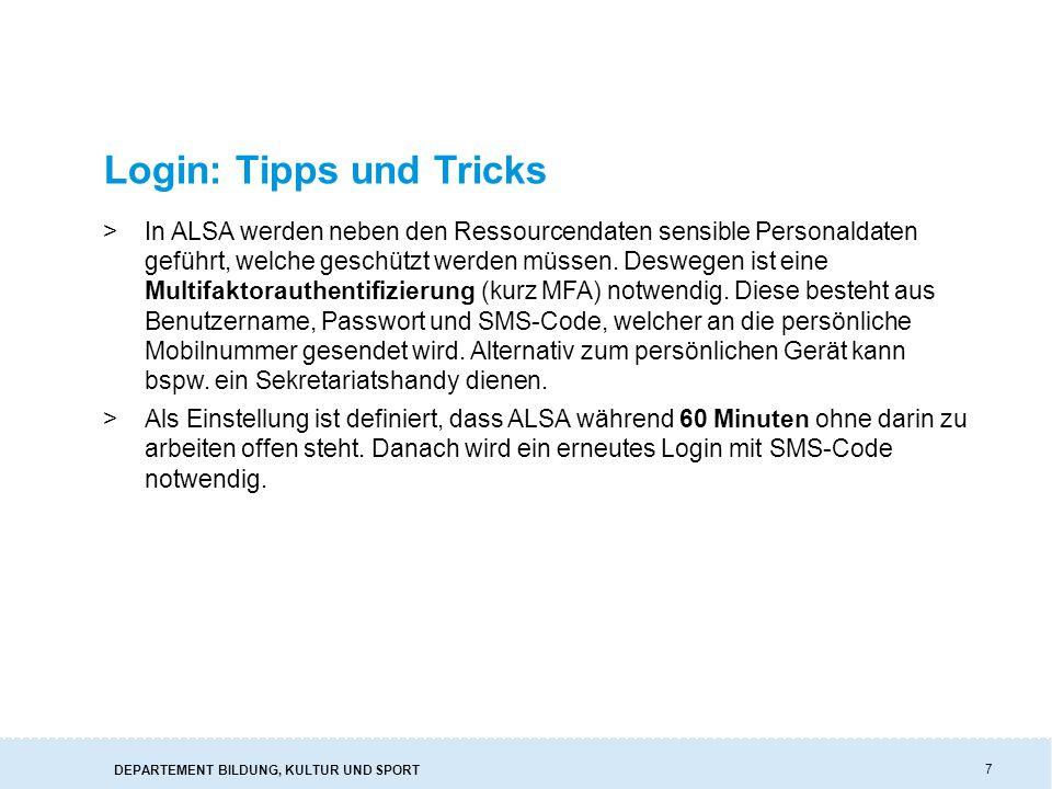 Login: Tipps und Tricks