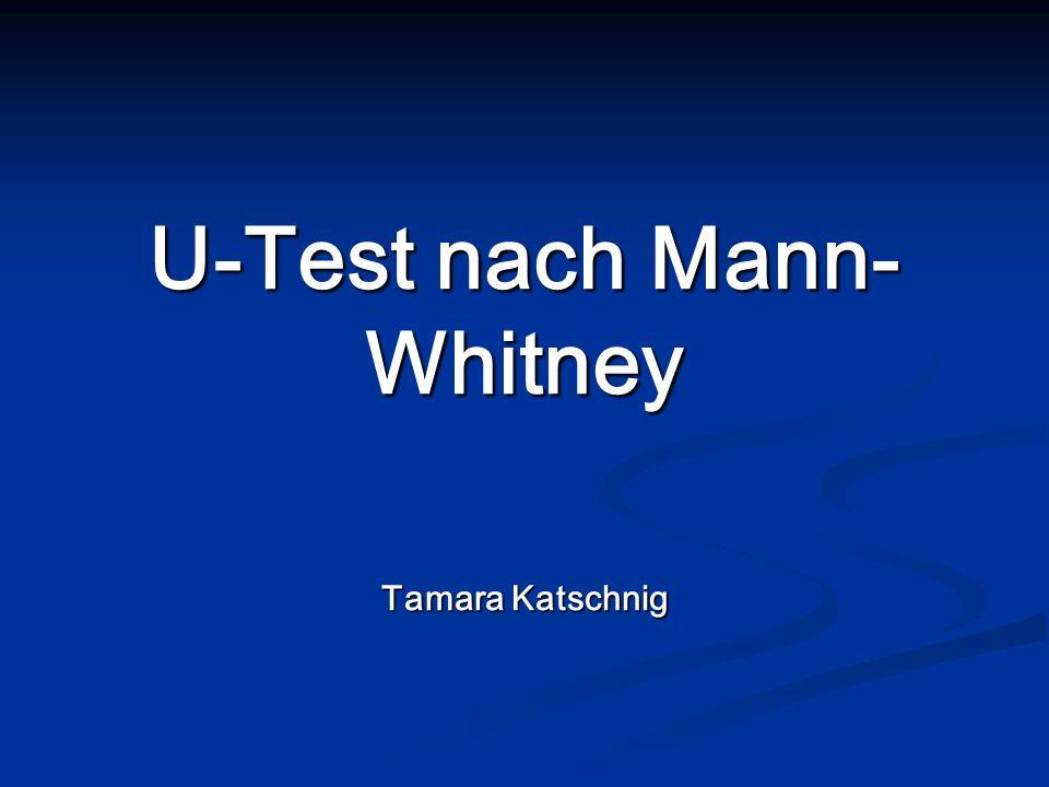 U-Test nach Mann-Whitney