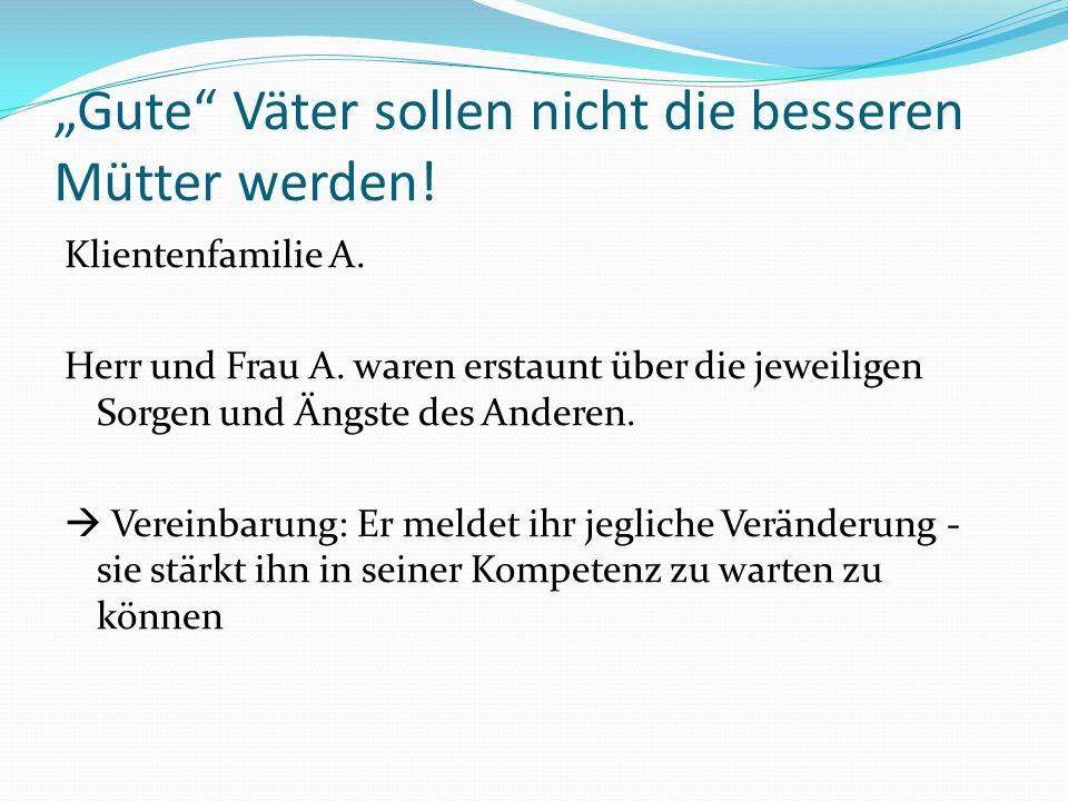 """""""Gute Väter sollen nicht die besseren Mütter werden!"""