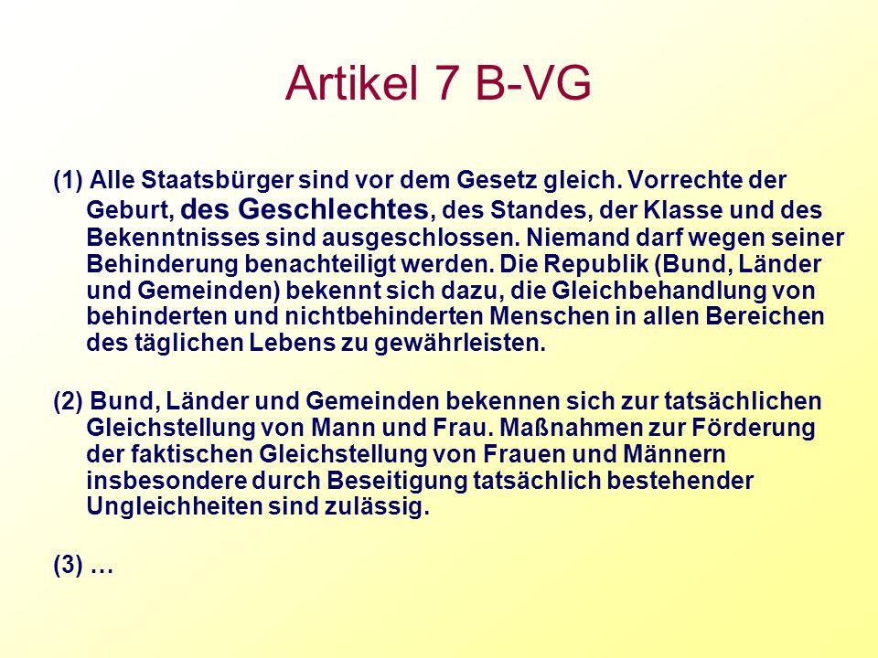 Artikel 7 B-VG