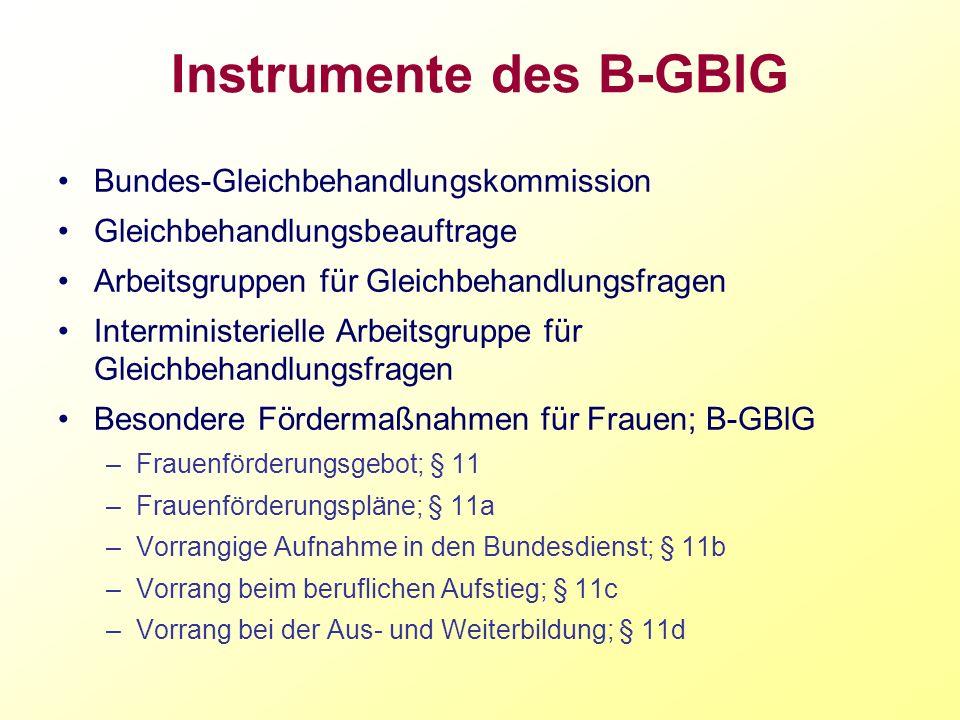 Instrumente des B-GBlG