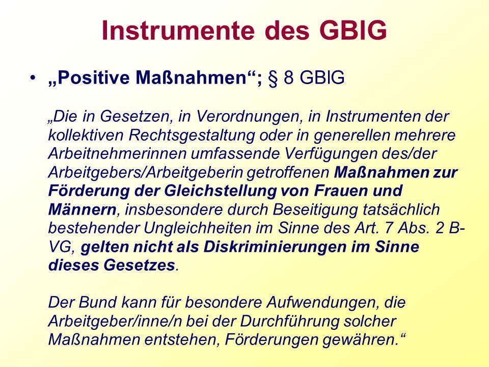 Instrumente des GBlG