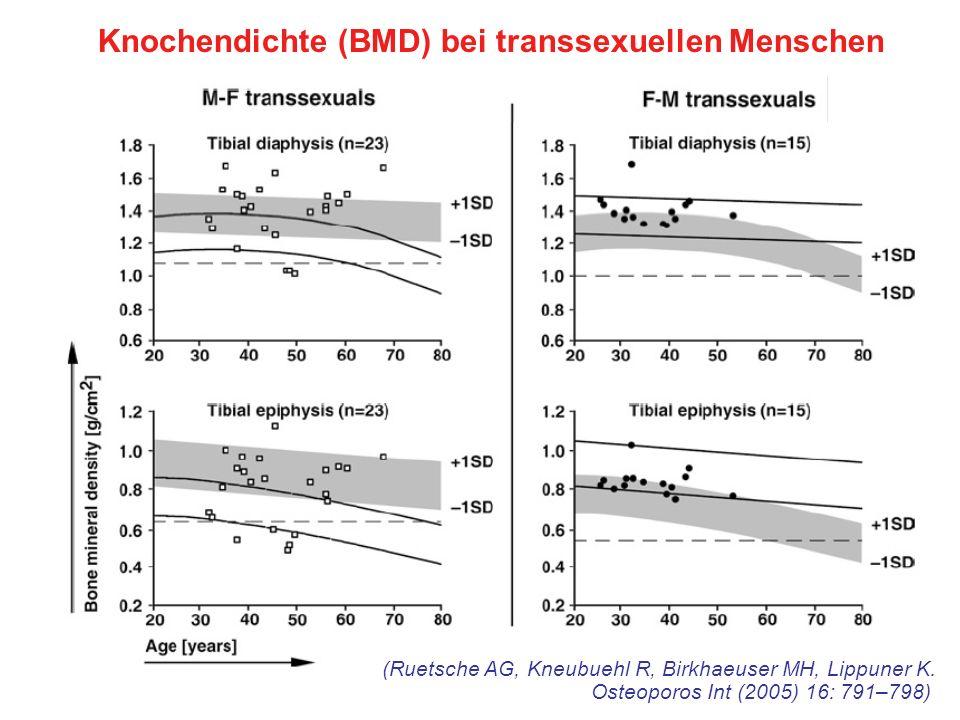 Knochendichte (BMD) bei transsexuellen Menschen
