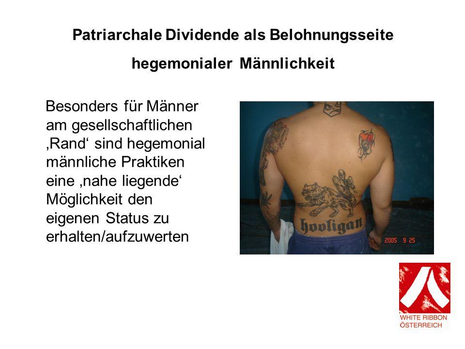 Patriarchale Dividende als Belohnungsseite hegemonialer Männlichkeit