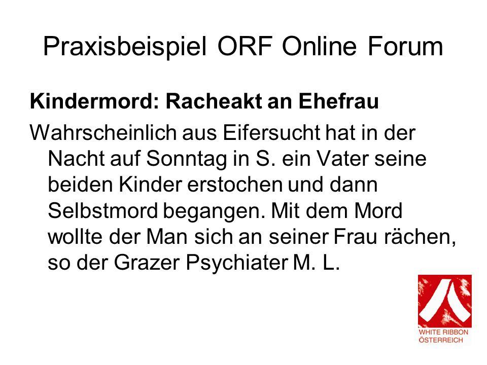 Praxisbeispiel ORF Online Forum