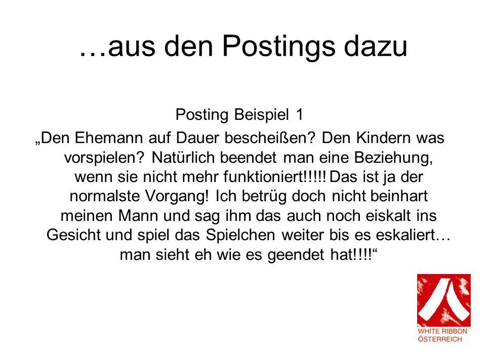 …aus den Postings dazu Posting Beispiel 1