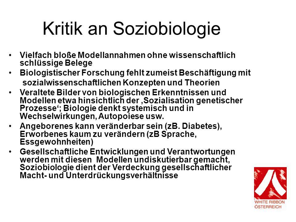 Kritik an Soziobiologie