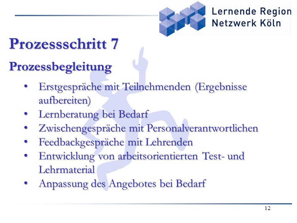 Prozessschritt 7 Prozessbegleitung
