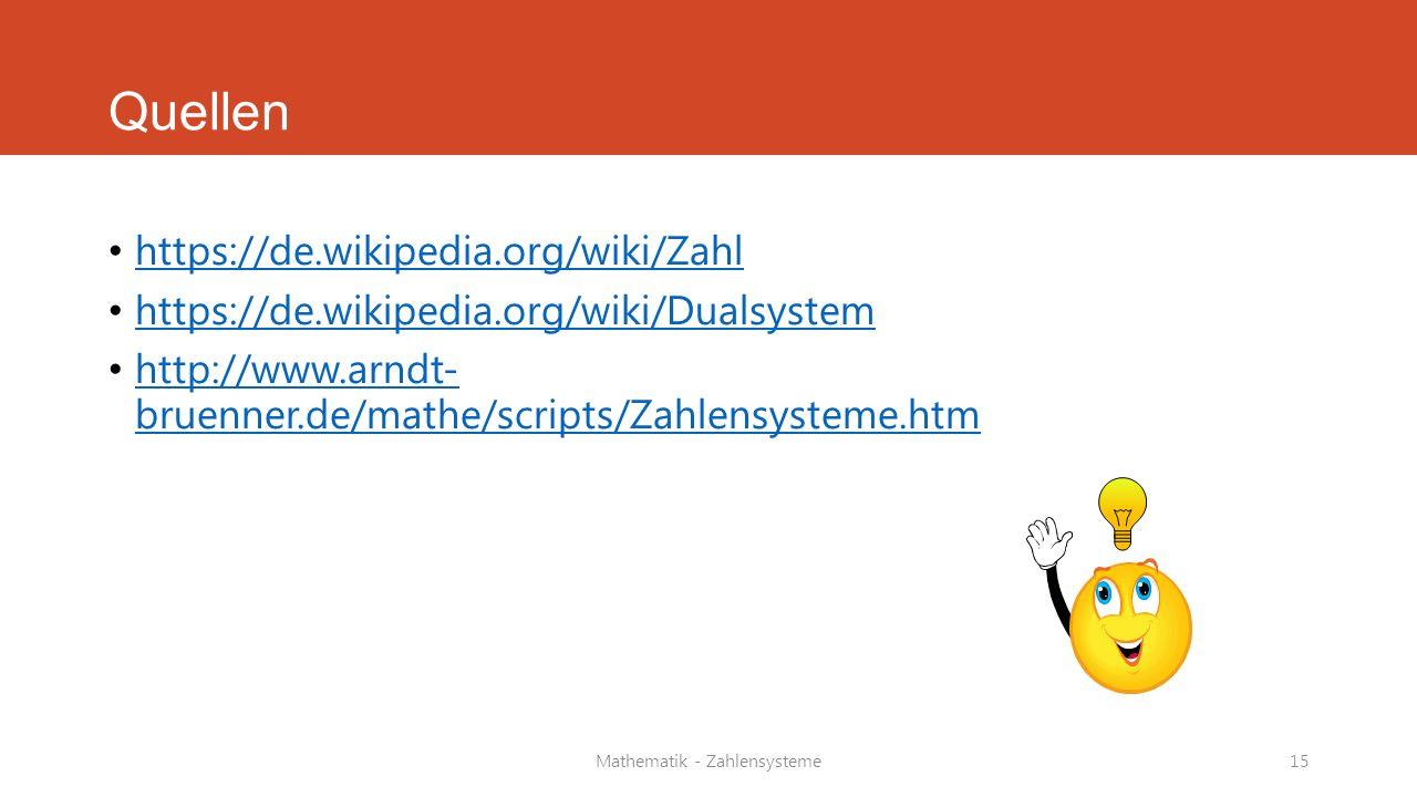 Mathematik - Zahlensysteme