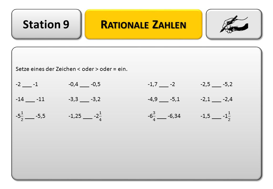 Station 9 Rationale Zahlen