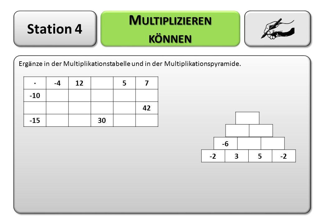 Multiplizieren können