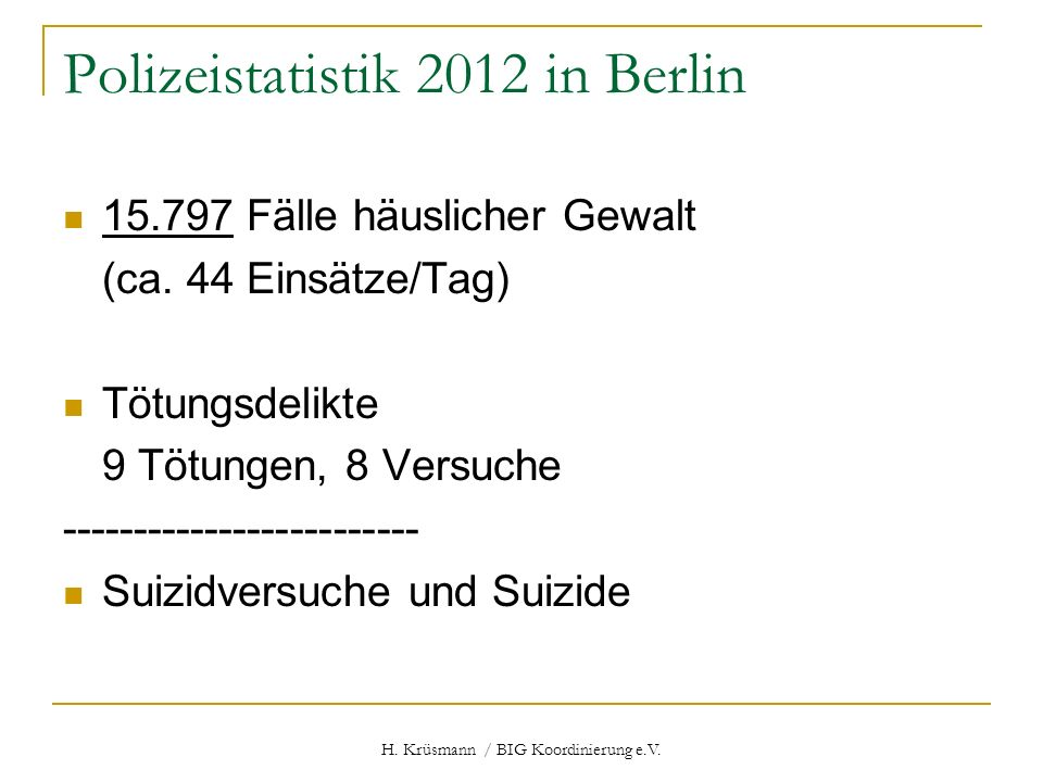 Polizeistatistik 2012 in Berlin