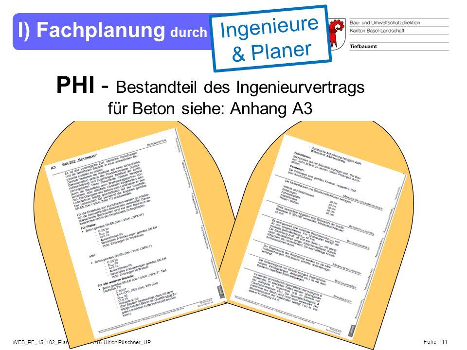 PHI - Bestandteil des Ingenieurvertrags