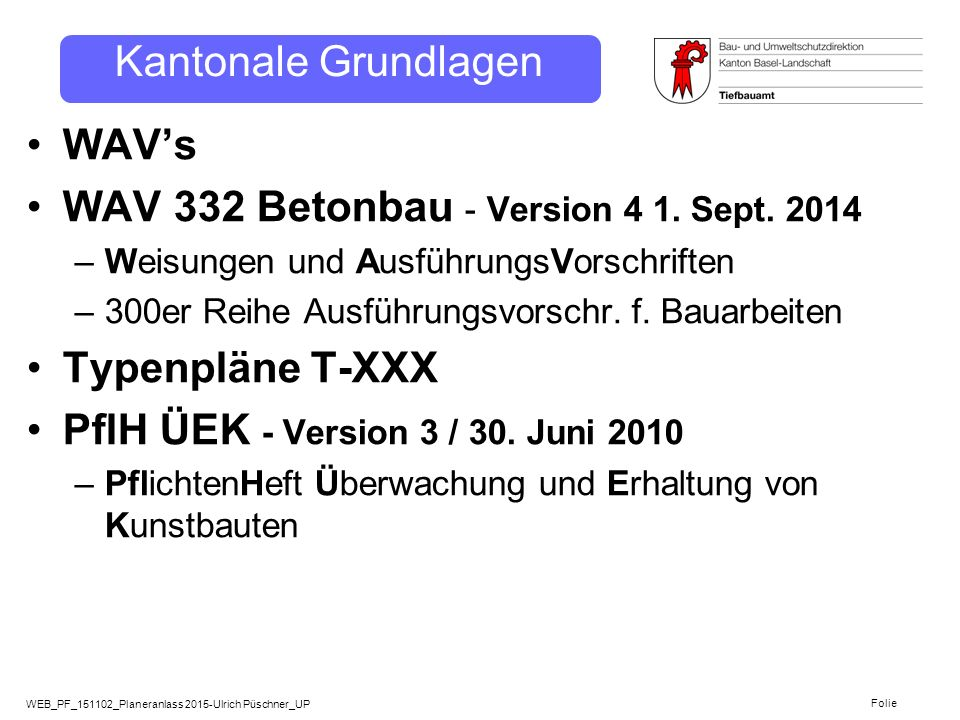 WAV 332 Betonbau - Version 4 1. Sept. 2014