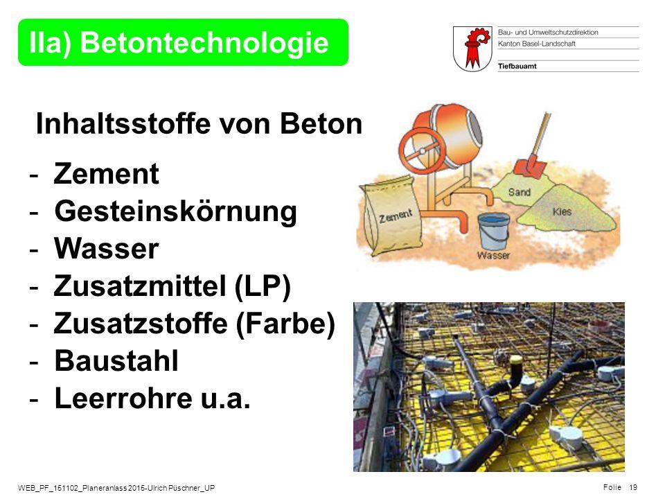 IIa) Betontechnologie