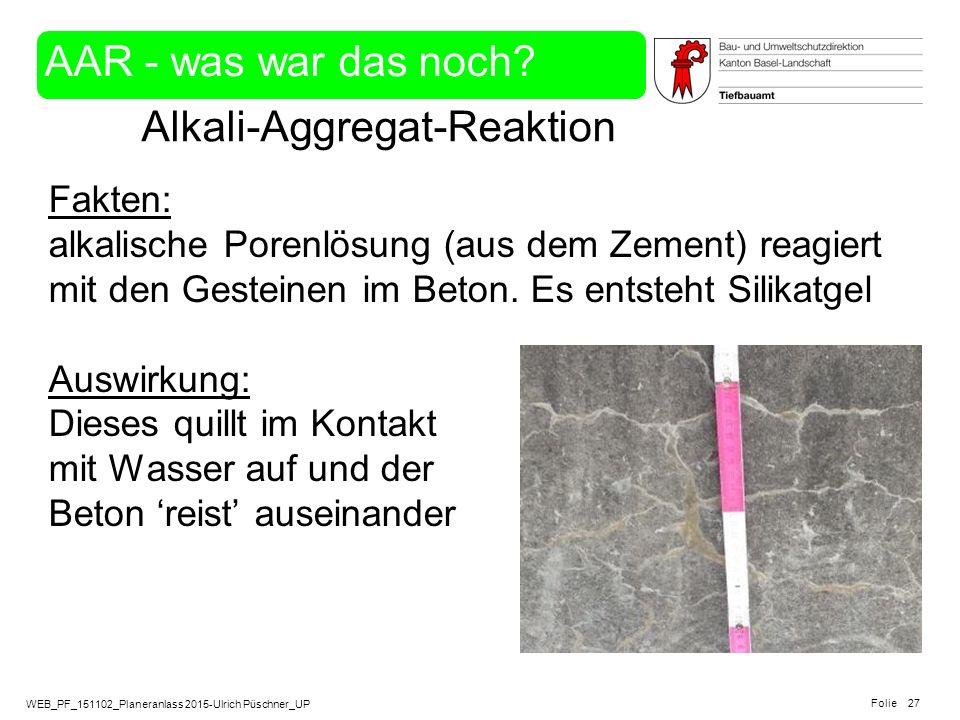 Alkali-Aggregat-Reaktion