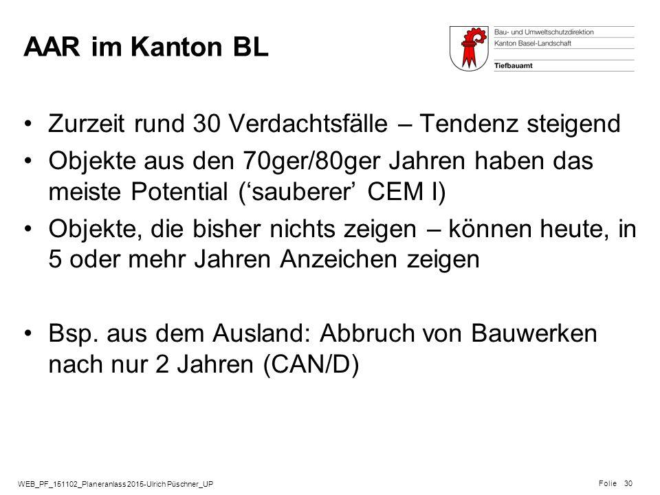 AAR im Kanton BL Zurzeit rund 30 Verdachtsfälle – Tendenz steigend