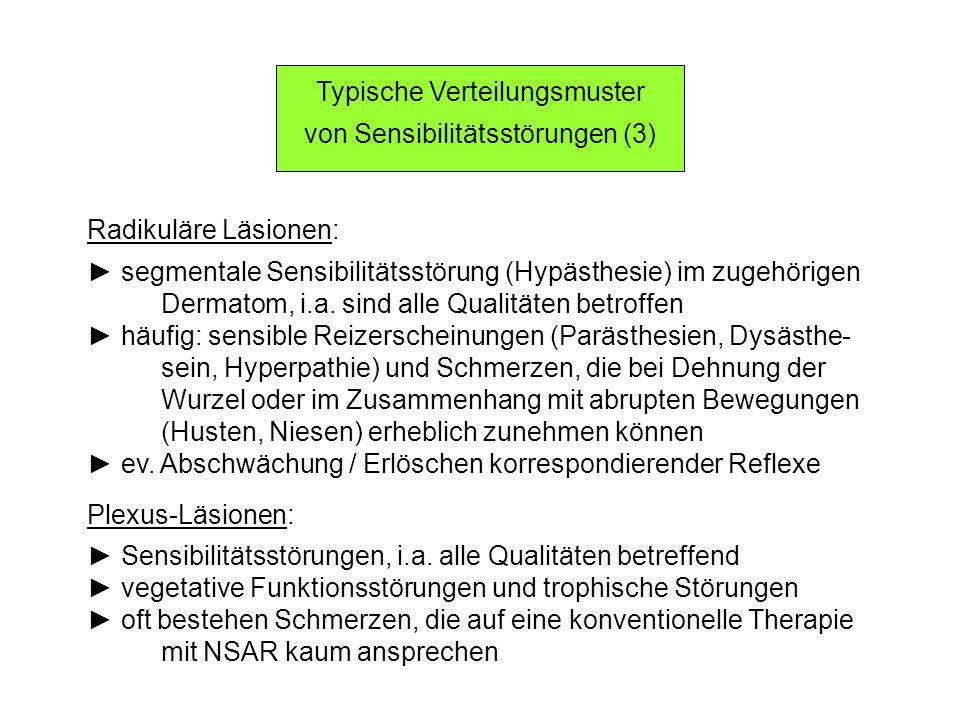 Typische Verteilungsmuster von Sensibilitätsstörungen (3)
