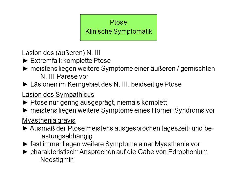 Klinische Symptomatik