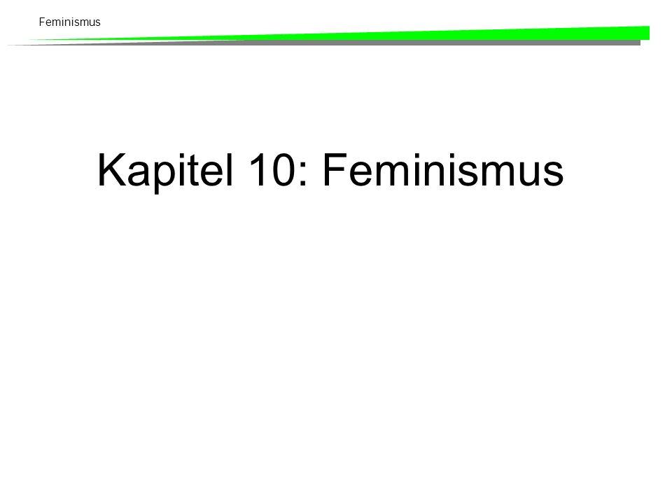 Kapitel 10: Feminismus