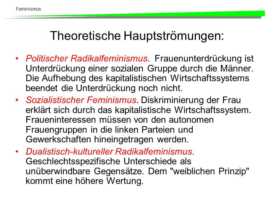 Theoretische Hauptströmungen: