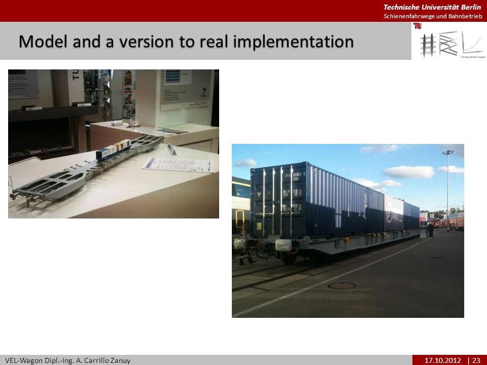 Model and a version to real implementation