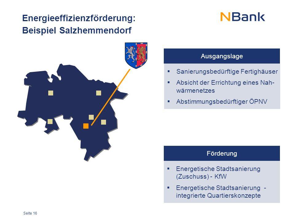 Energieeffizienzförderung: Beispiel Salzhemmendorf