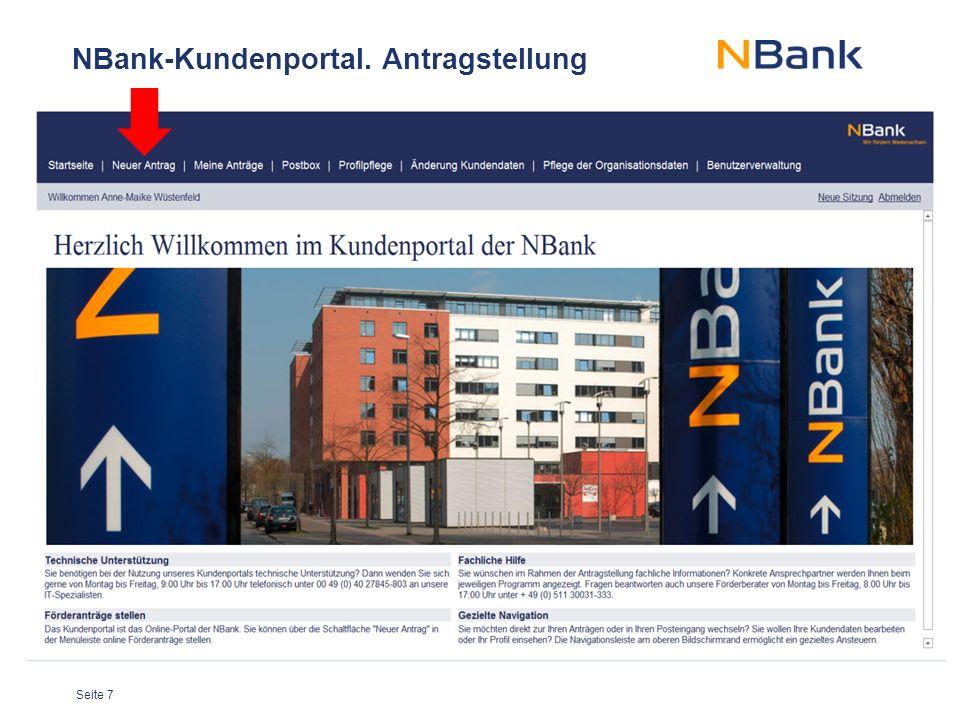NBank-Kundenportal. Antragstellung
