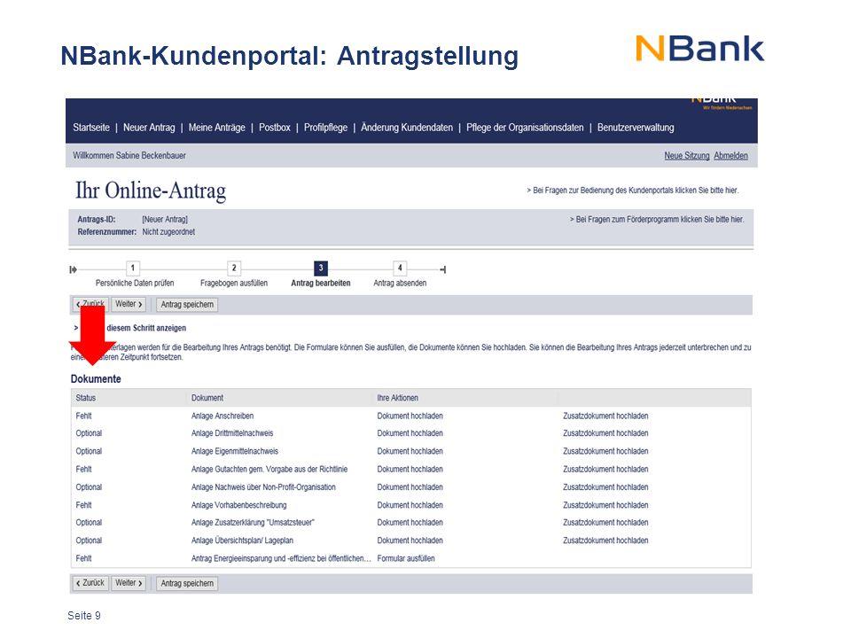NBank-Kundenportal: Antragstellung