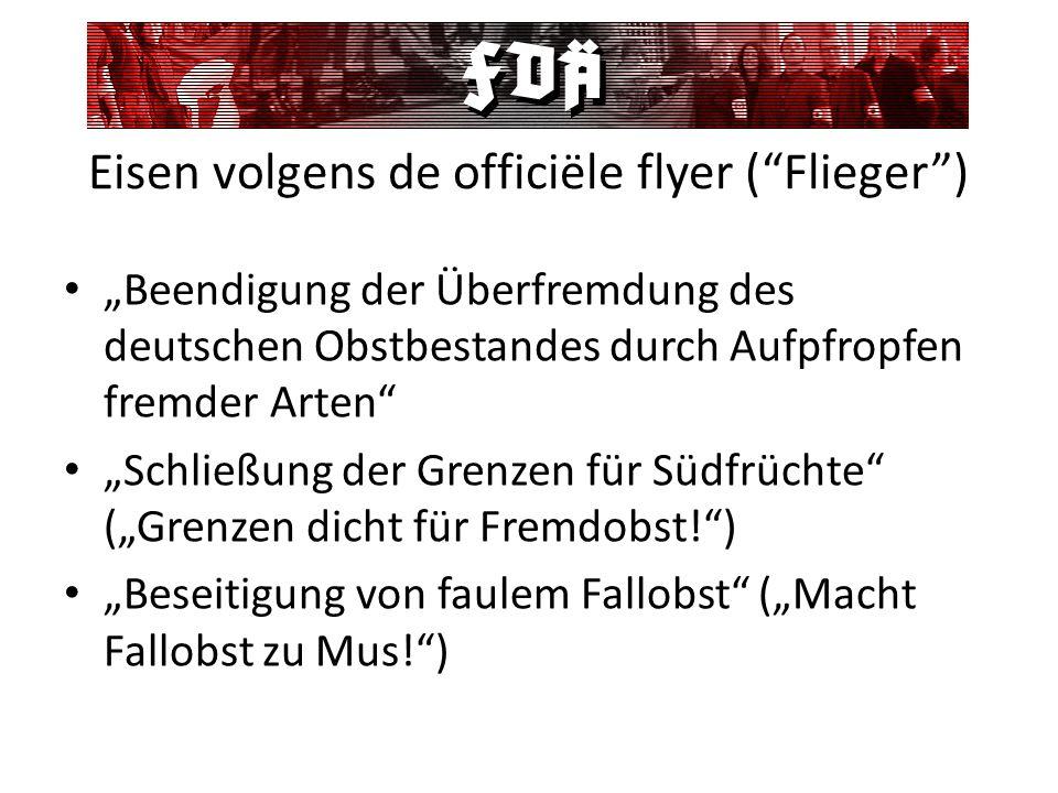 Eisen volgens de officiële flyer ( Flieger )