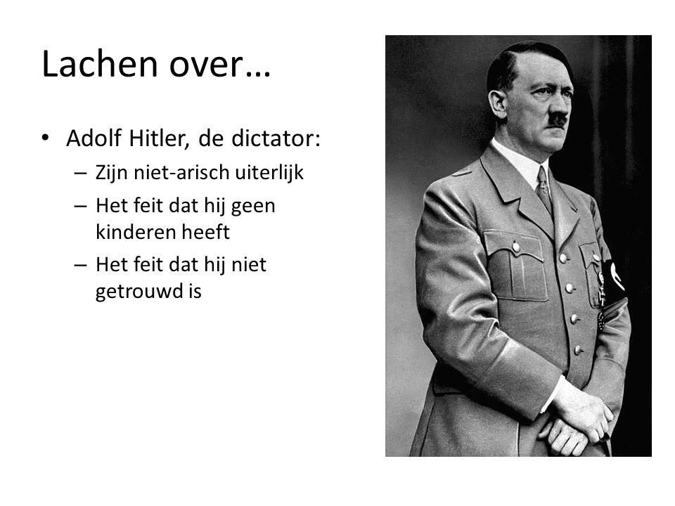 Lachen over… Adolf Hitler, de dictator: Zijn niet-arisch uiterlijk