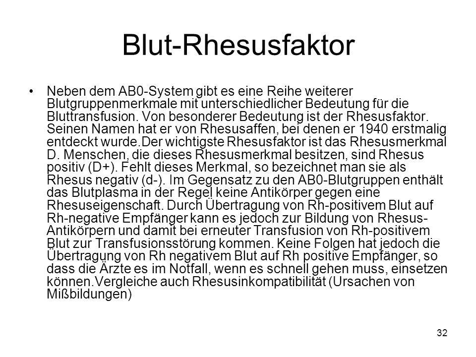 Blut-Rhesusfaktor